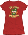 Gumby juniors t-shirt Darn It red