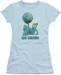 Gumby juniors t-shirt Go Green Light Blue