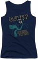 Gumby juniors tank top Bend There navy