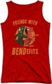 Gumby juniors tank top Bendefits red