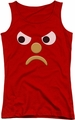 Gumby juniors tank top Blockhead G red