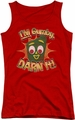 Gumby juniors tank top Darn It red