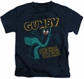 Gumby kids t-shirt Bend There navy