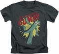 Gumby kids t-shirt Bendable charcoal