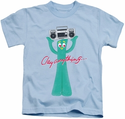 Gumby kids t-shirt Clay Anything light blue