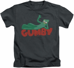 Gumby kids t-shirt On Logo charcoal