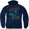 Gumby pull-over hoodie Bend There adult navy