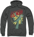 Gumby pull-over hoodie Bendable adult charcoal