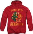 Gumby pull-over hoodie Bendefits adult red
