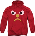 Gumby pull-over hoodie Blockhead G adult red