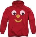 Gumby pull-over hoodie Blockhead J adult red