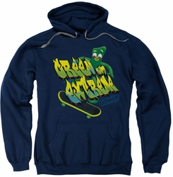 Gumby pull-over hoodie Green And Extreme adult navy