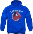 Gumby pull-over hoodie Saddle Up adult royal blue