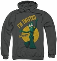 Gumby pull-over hoodie Twisted adult charcoal
