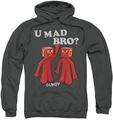 Gumby pull-over hoodie U Mad Bro adult charcoal