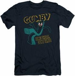 Gumby slim-fit t-shirt Bend There mens navy