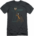 Gumby slim-fit t-shirt Outlines mens charcoal