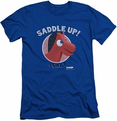 Gumby slim-fit t-shirt Saddle Up mens royal