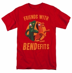 Gumby t-shirt Bendefits mens red