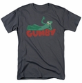 Gumby t-shirt Bumby On Logo mens Charcoal