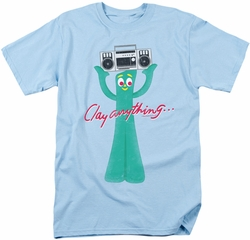 Gumby t-shirt Clay Anything mens light blue