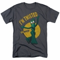 Gumby t-shirt Twisted mens Charcoal