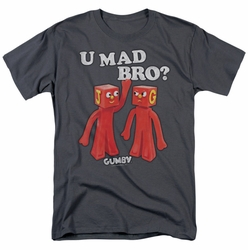 Gumby t-shirt U Mad Bro mens charcoal