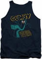 Gumby tank top Bend There mens navy