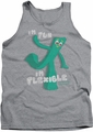 Gumby tank top Flex mens athletic heather