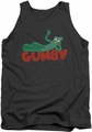 Gumby tank top On Logo mens charcoal