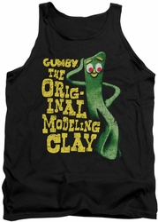 Gumby tank top So Punny mens black