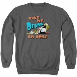 Hagar The Horrible adult crewneck sweatshirt Take Me Home charcoal