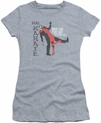 Hai Karate juniors t-shirt Name heather