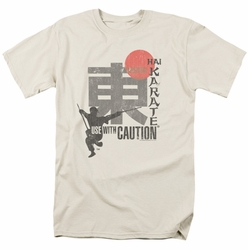 Hai Karate t-shirt Caution mens cream