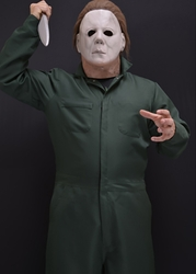 Halloween II Michael Myers Adult Jumpsuit Coveralls Mask & knife