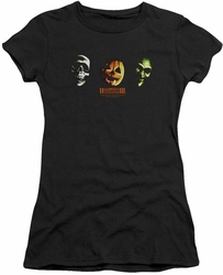 Halloween III juniors t-shirt Three Masks black