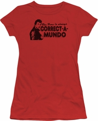Happy Days juniors t-shirt Correct A Mundo red