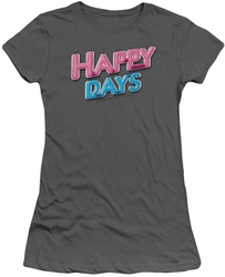 Happy Days juniors t-shirt Happy Days Logo charcoal
