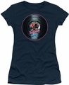 Happy Days juniors t-shirt On The Record navy