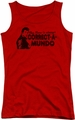 Happy Days juniors tank top Correct A Mundo red