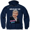 Happy Days pull-over hoodie Best Dad adult navy