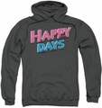 Happy Days pull-over hoodie Happy Days Logo adult charcoal