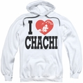 Happy Days pull-over hoodie I Heart Chachi adult white
