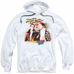 Happy Days pull-over hoodie No Cardigans adult white
