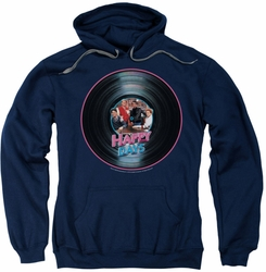 Happy Days pull-over hoodie On The Record adult navy