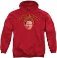 Happy Days pull-over hoodie Sit On It Malph adult red