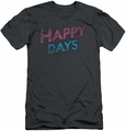 Happy Days slim-fit t-shirt Distressed mens heather
