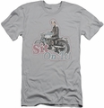 Happy Days slim-fit t-shirt Sit On It mens silver