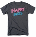 Happy Days t-shirt Happy Days Logo mens charcoal