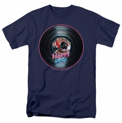 Happy Days t-shirt On The Record mens navy